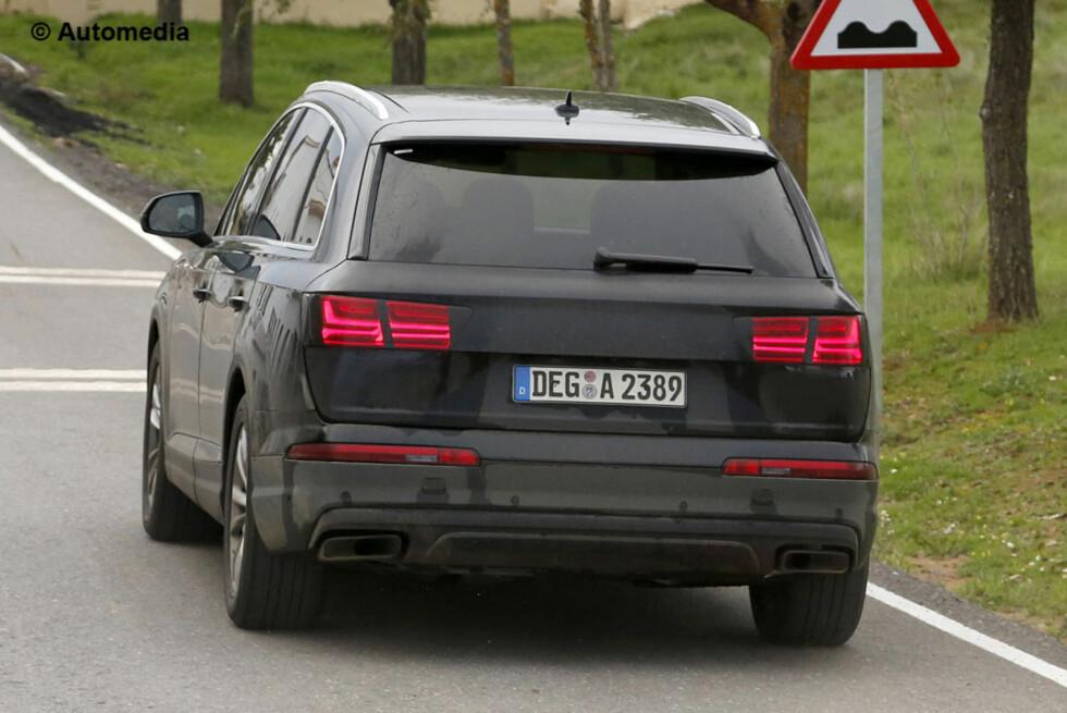 RETT RUNDT HJØRNET: Neste Audi Q7, gedigen som forgjengeren... Foto: AUTOMEDIA