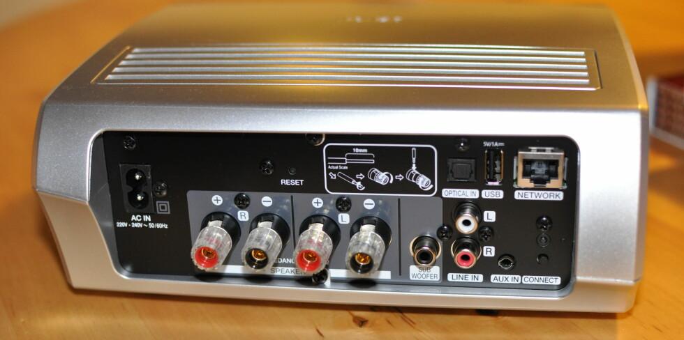 FORSTERKER: Amp-modulen er et helt lite stereoanlegg i seg selv. Foto: TORE NESET