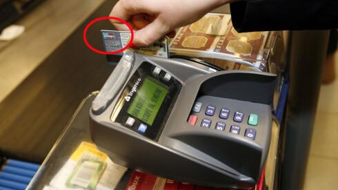 LIGG UNNA BANKAXEPT: Si nei til å få kassabeløpet i norske kroner, og ikke betal med BankAxept. Foto: PER ERVLAND