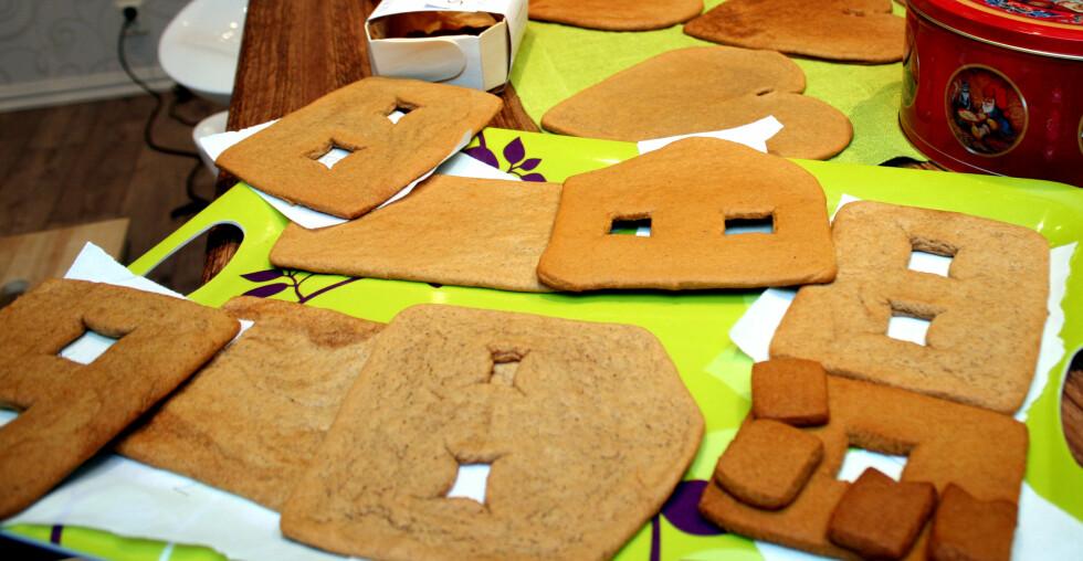 PEPPERKAKEHUS MED RETTE KANTER? Noen deiger er mer egnet til pepperkakehus enn andre ... Foto: KRISTIN SØRDAL