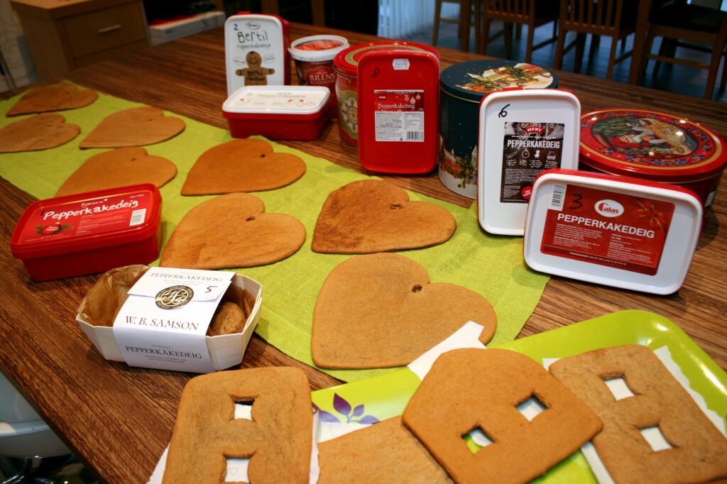 <b>VELG RIKTIG PEPPERKAKEDEIG:</b> Vi har testet ferdige pepperkakedeiger. Og det er store forskjeller, både på hvordan de er å bake ut og smak og utseende på det ferdige resultatet. Foto: KRISTIN SØRDAL
