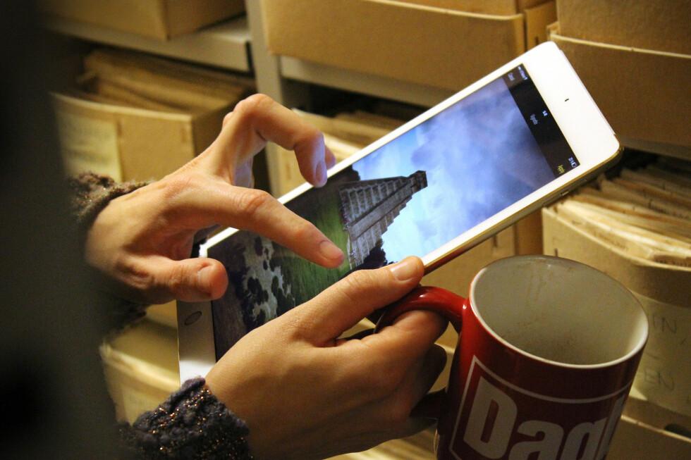 ORIGINALEN: Apple iPad var først, og er fortsatt blant de aller mest solgte nettbrettene. Her ser du siste generasjon, iPad Air 2. Foto: OLE PETTER BAUGERØD STOKKE