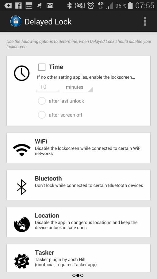TRYGT: Delayed Lock lar deg definere trygge soner der du ikke trenger å låse opp telefonen, basert på WiFi-tilkobling, kontakt med kjente Bluetooth-enheter, plassering og så videre.