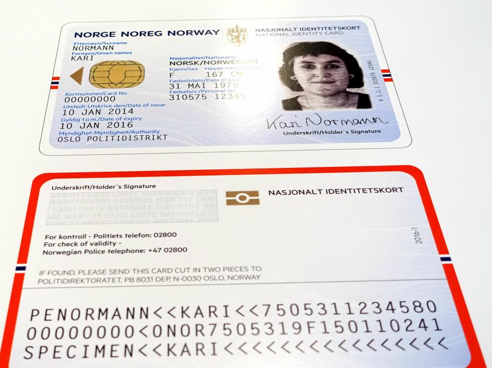 «EVENTYRLYST»: «Eventyrlyst» kalles bidraget fra Tank design, her representert ved ID-kortet. Her ønsker de å formidle reiselyst, gjennom bruk av historiens oppdagelsesreiser og moderne eventyr. Dette ID-kortet fremheves som en av konkurransens beste løsninger, med en sterk, norsk identitet. Foto: KRISTIN SØRDAL