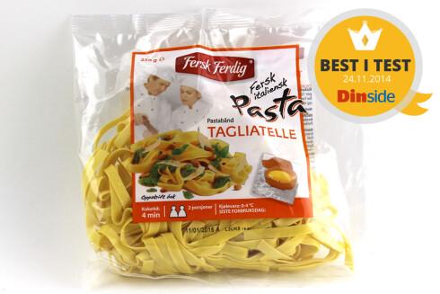 BEST I TEST: Fersk & Ferdig Tagliatelle var klart den beste pastaen vi smakte på. Foto: OLE PETTER BAUGERØD STOKKE