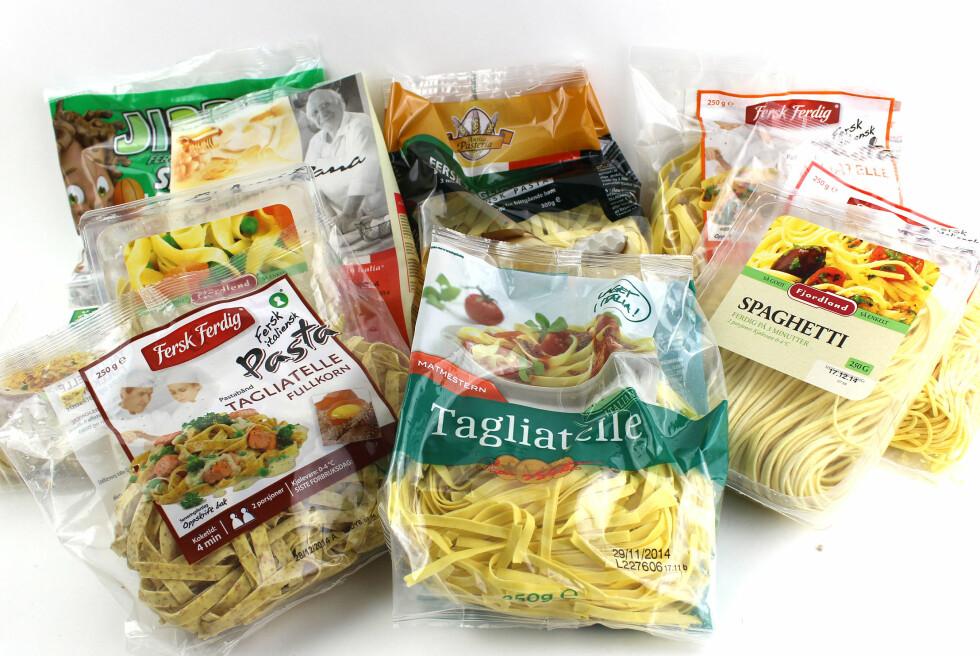 FERSK PASTA: Vi har testet fersk pasta fra dagligvareforretningene.  Foto: OLE PETTER BAUGERØD STOKKE