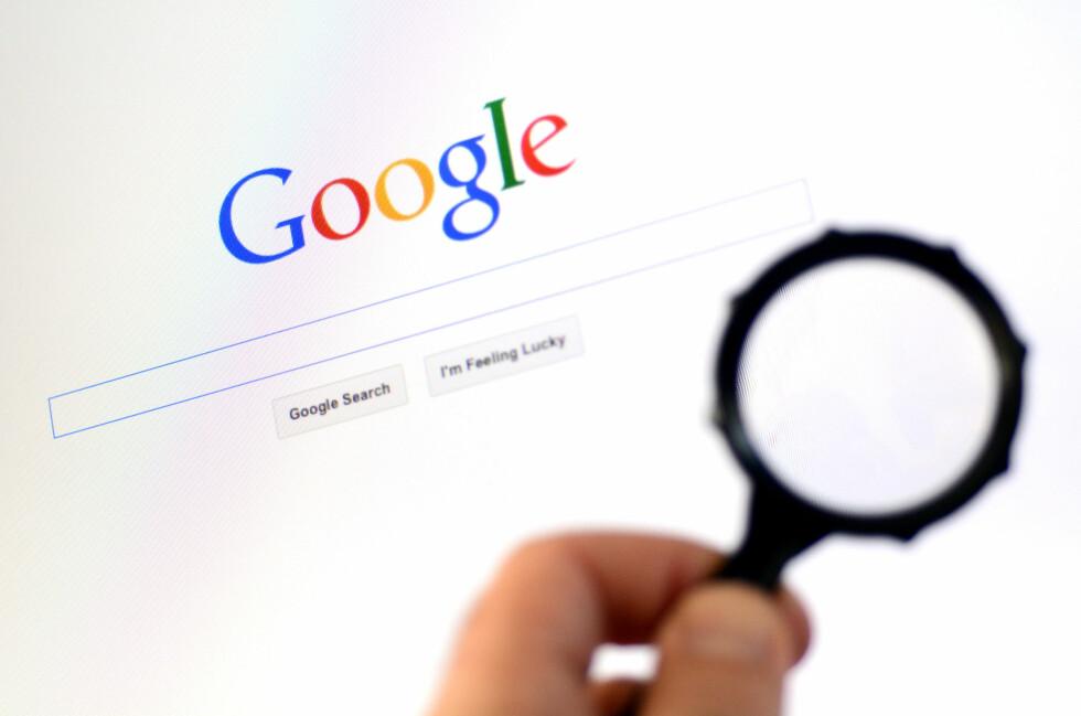 SJEKK SELV: Hva vet Google egentlig om deg?  Foto: ALL OVER PRESS