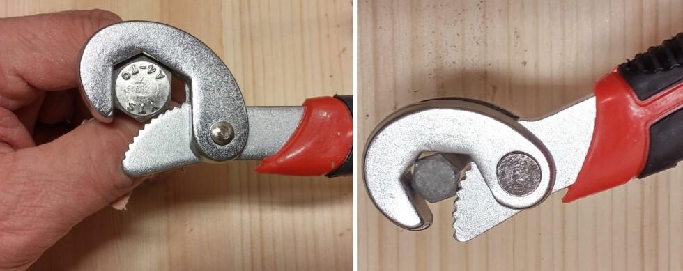 FLEKSIBEL: Nøkkelen tilpasser seg  en hver dimensjon, men i forskjellige vinkler. Foto: BRYNJULF BLIX
