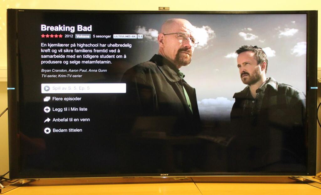 NETFLIX: Netflix-appen støtter 4K-oppløsning på Breaking Bad og House Of Cards. Foto: ØYVIND PAULSEN
