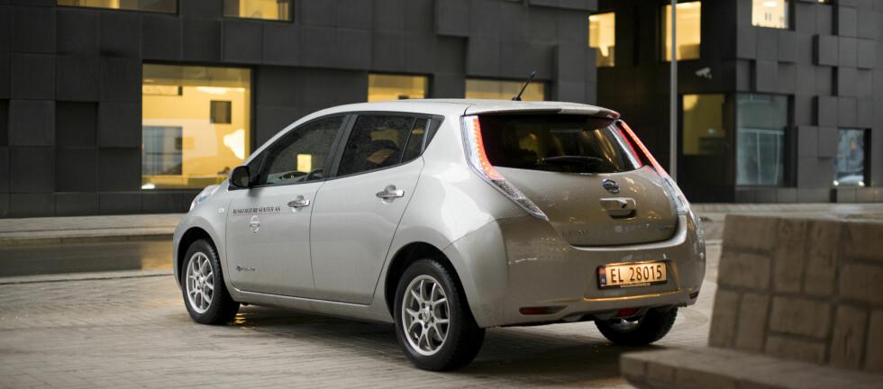 KLAR VINNER: Nissan Leaf ligger an til klart å bli årets mest solgte elbil.   Foto: JAMIESON POTHECARY