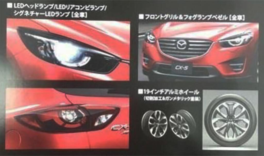 DETALJER: Det scannede bildet viser de detaljene som er mest endret på generasjon 1,5 av Mazda CX-5. Foto: MAZDA VIA PAUL TAN