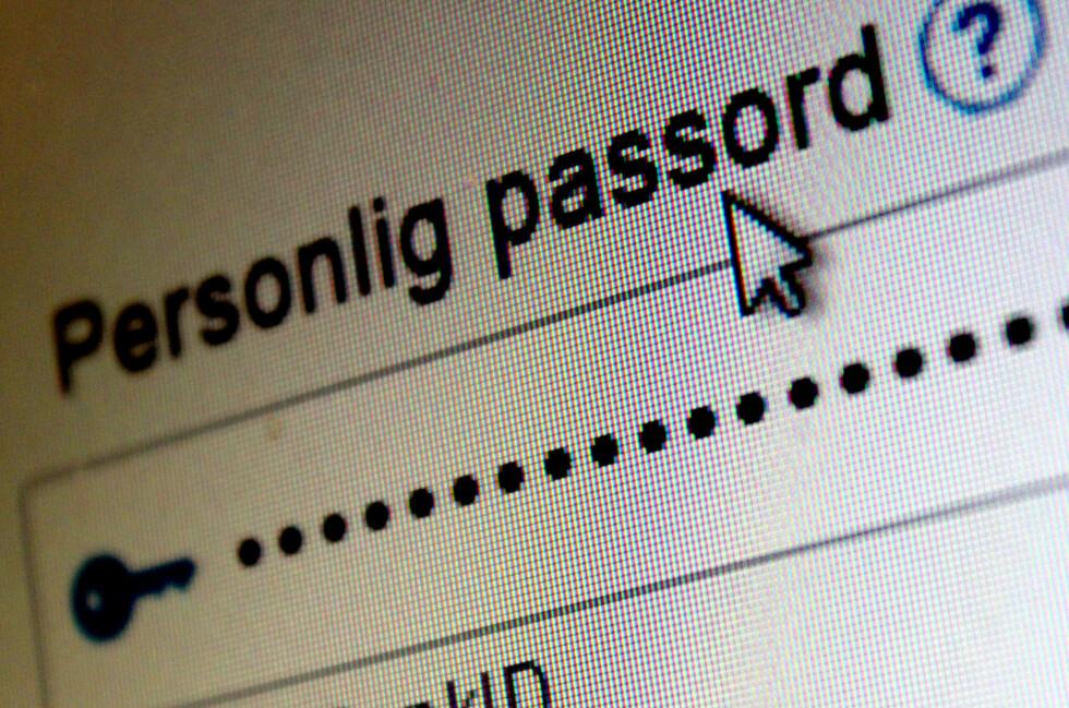 VET IKKE FORSKJELLEN: BankID blåser i om du skriver inn passordet ditt med små, store eller en blanding av små og store bokstaver.  Foto: OLE PETTER BAUGERØD STOKKE