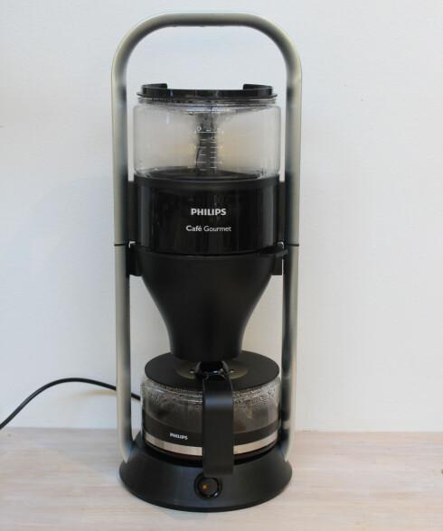 WOW-FAKTOR: Philips trakter skiller seg ut. Det er bra, for du blir stående og se leeenge på den før kaffen er klar. Foto: ELISABETH DALSEG