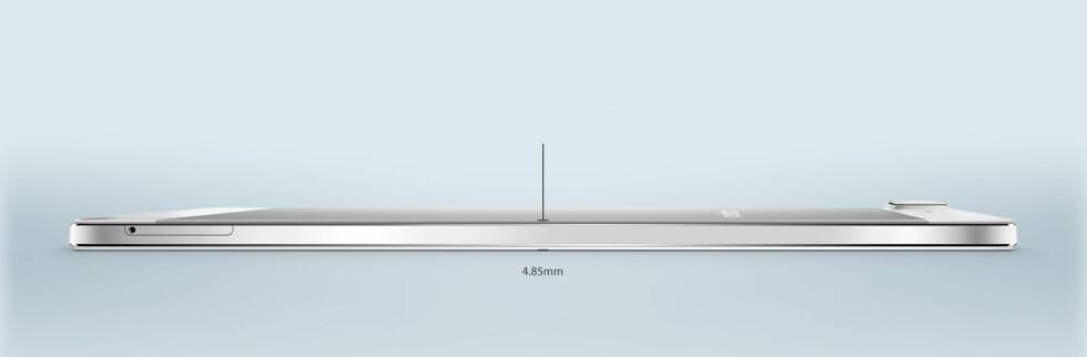 TYNN: Oppo R5 måler bare 4,85mm i tykkelse. Foto: OPPO