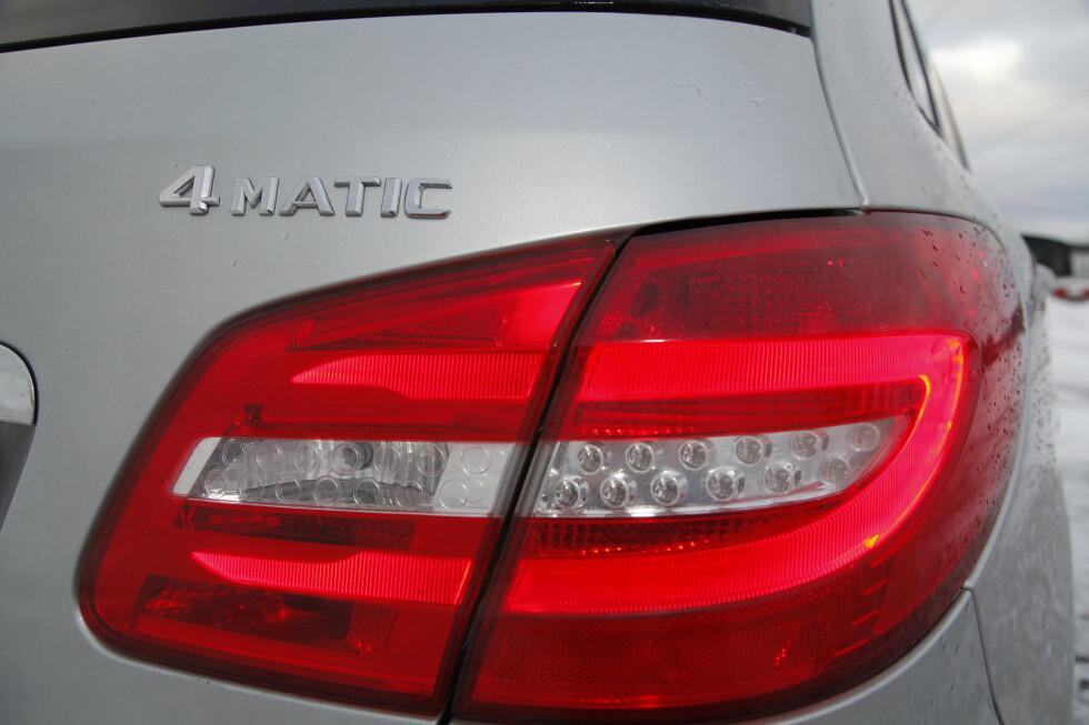 PÅ MINDRE MODELLER: Mercedes ønsker å øke sin andel 4Matic-biler betraktelig, og har begynt med de mindre modellene.   Foto: TOMMY SIMON NORUM