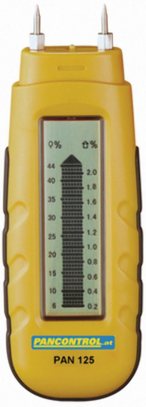 Fuktighetsmåler for treverk og ved. Foto: PRODUSENTEN
