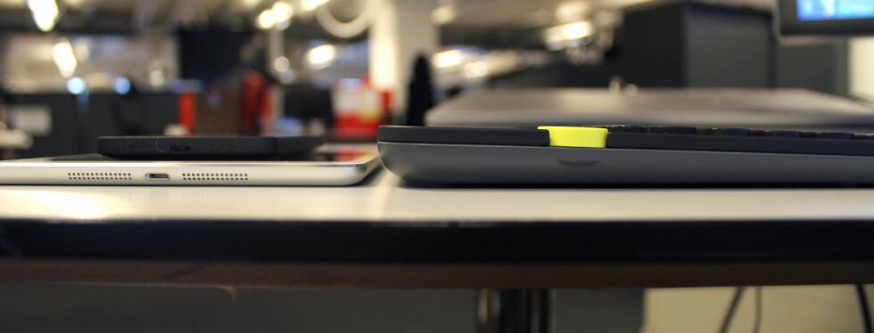 TJUKKAS: K40 er tykkere enn de fleste mobiler og nettbrett, og det finnes nok også bærbare PC-er som er mindre. Foto: KIRSTI ØSTVANG