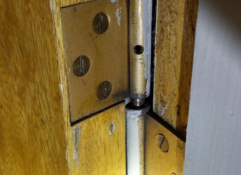 PIP: For å heve døren legger du inn en sliteskive i hengselet. Foto: BRYNJULF BLIX