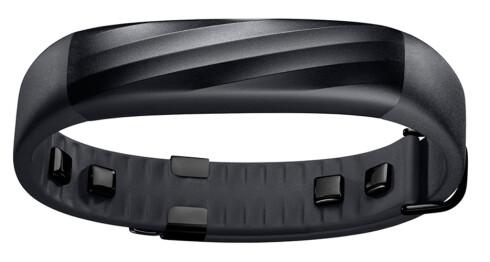 29 GRAM: Slik ser den sorte utgaven av Jawbone UP3 ut. I tillegg kommer armbåndet i en sølv/grå utgave. Foto: JAWBONE