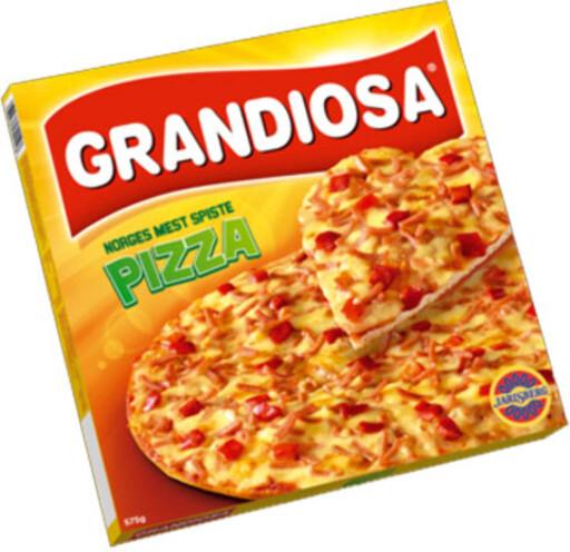 HEMMELIG: Pizza Grandiosa oppgir sin smaksgiver som «krydder». Hva dette består av er hemmelig.  Foto: ORKLA FOODS