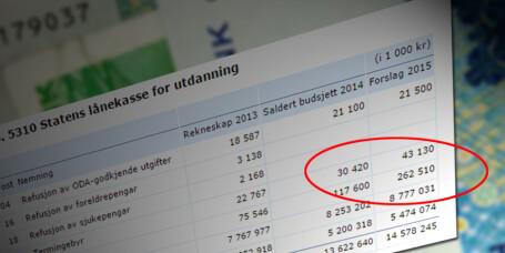 Lånekassen får inntektsdobling fra ubetalte regninger