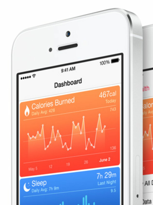 APPLES HELSEAPP: Fitbit har foreløpig ingen integrasjon med sine data opp mot Apples nye helseplattform. Foto: APPLE