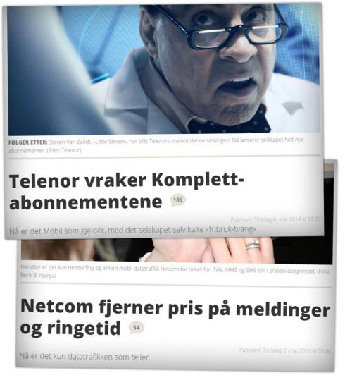 REVOLUSJON: Først kom Netcom, så kom Telenor og snart hadde hele mobilbransjen gått over til fastpris på mobiltelefoni. Foto: OLE PETTER BAUGERØD STOKKE