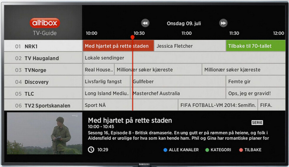 Den nye TV-guiden. Foto: ØYVIND PAULSEN/ALTIBOX