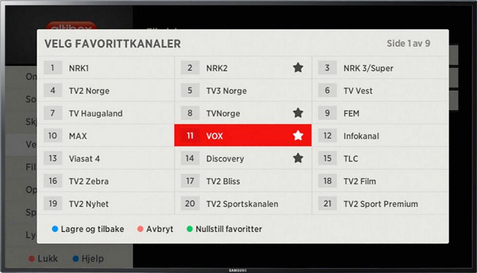Det skal fortsatt være enkelt å legge inn favorittkanaler. Foto: ØYVIND PAULSEN/ALTIBOX