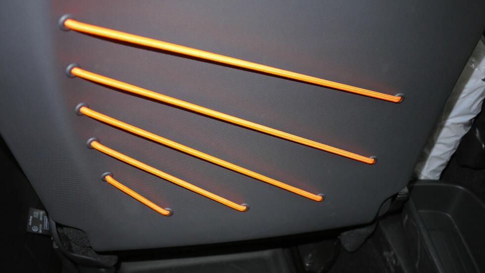 STRING QUARTET: Egenglig en kvintett da, men dette er uansett oppbevaringslommen på baksiden av forsetene. Foto: LORD ARNSTEIN LANDSEM