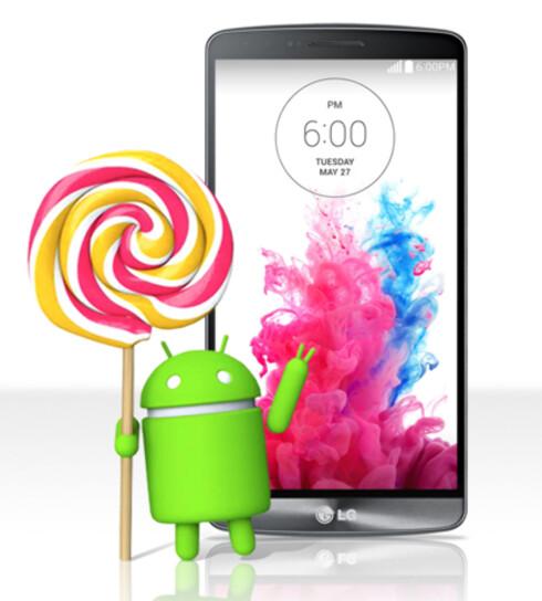 FØRST UT? LG G3-brukere ser ut til å bli de første som får Android 5.0-oppdateringen. Brukere i Polen vil i løpet av kort tid kunne oppdatere sine telefoner, melder selskapet i en pressemelding.  Foto: LG