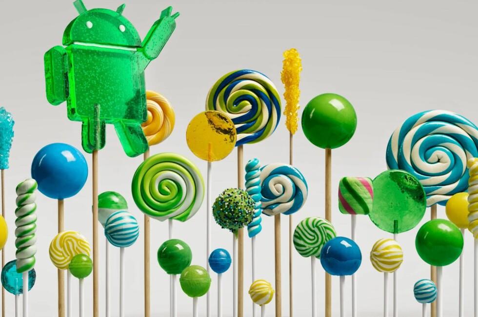 MØT LOLLIPOP: Også kjent som Android versjon 5.0. Foto: GOOGLE