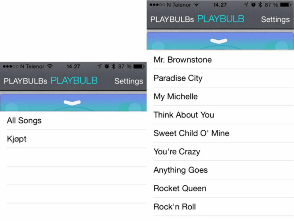 Appen deler ikke inn i album, men lister ut all musikken din. Resultatet var at vi heller brukte WiMP-appen direkte. Foto: ØYVIND PAULSEN