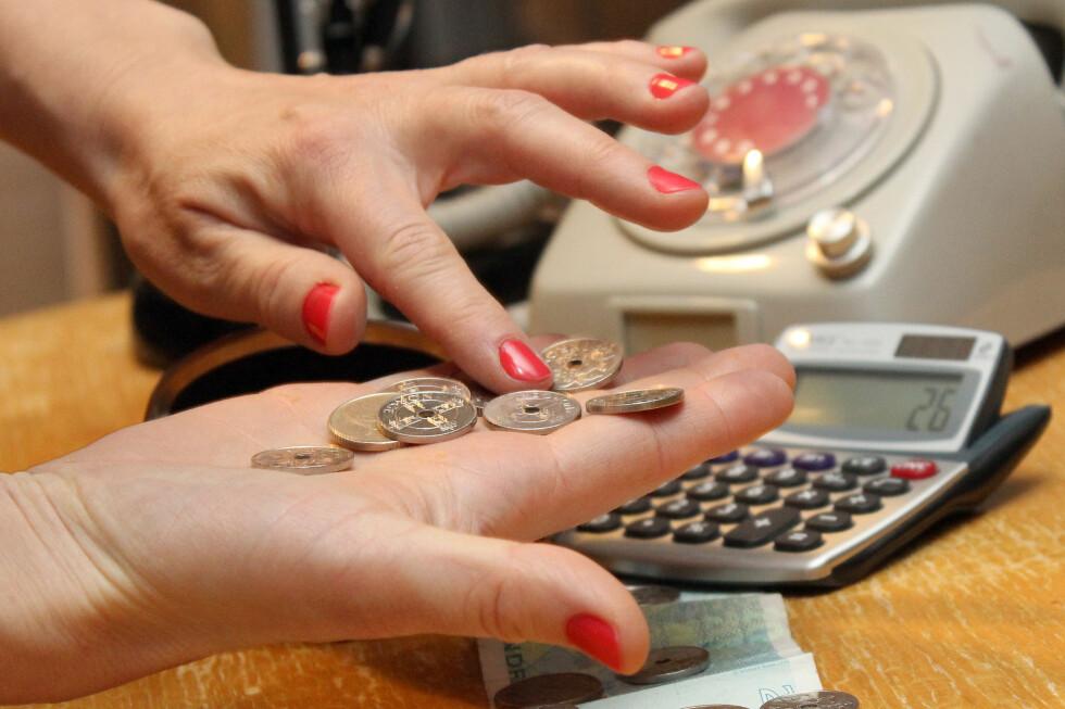 TELLE PÅ KNAPPENE? Opplever du at pengene ikke strekker til, og frykter uforutsette utgifter? Det finnes råd. Foto: OLE PETTER BAUGERØD STOKKE