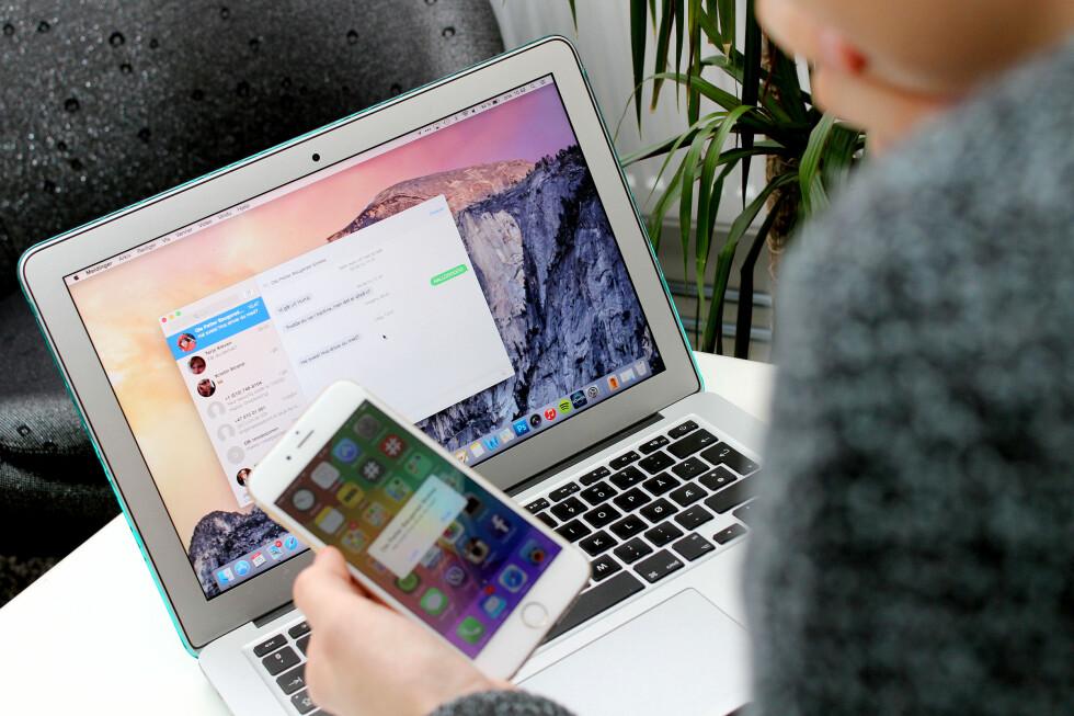 NYTT OPERATIVSYSTEM: Nå kan du oppdatere Mac-en din - helt gratis. Men hva får du? Foto: OLE PETTER BAUGERØD STOKKE