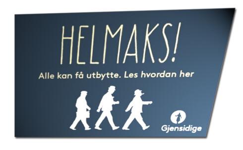 Ett eksempel fra Gjensidiges annonsekampanje. Foto: SKJERMDUMP