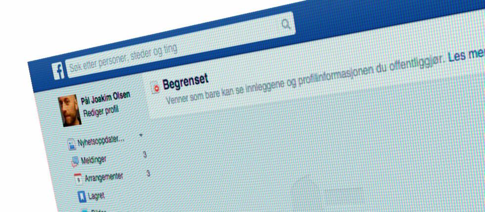BEGRENSET: Nesten som å avslutte Facebook-vennskapet. Foto: PÅL JOAKIM OLSEN