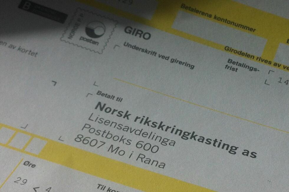INGEN ØKNING: NRK-lisensen fryses, ifølge Statsbudsjettet 2015.  Foto: KAROLINE BRUBÆK