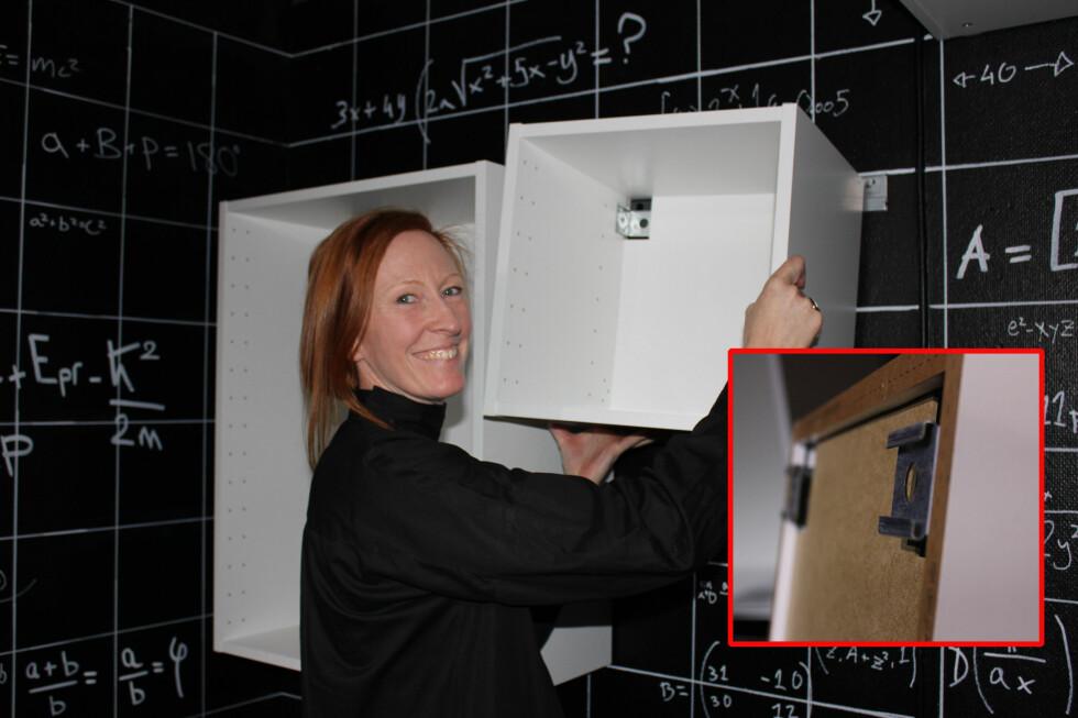 <strong><b>HEKT PÅ:</strong></b> Ikeas nye kjøkken-serien Metod hekter du på en skinne på veggen.  Foto: ELISABETH DALSEG