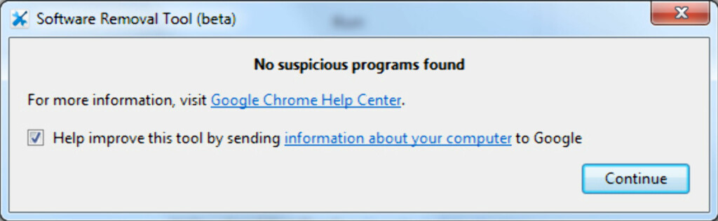 INGENTING FUNNET: Google fant ingen mistenkelige programmer på vår PC. Foto: KIRSTI ØSTVANG