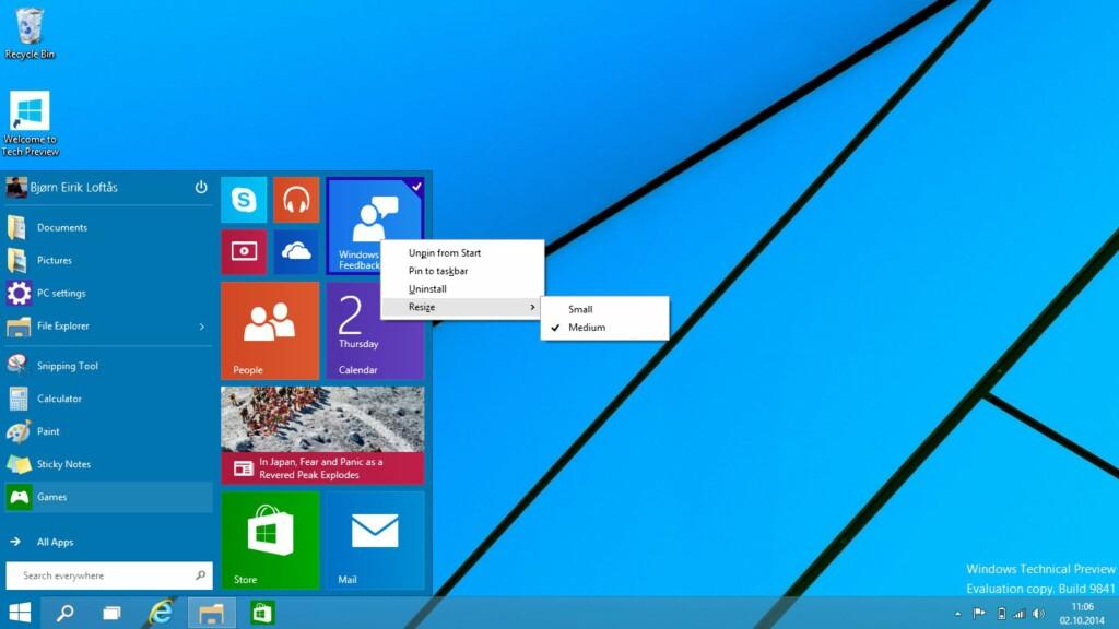 image: Slik er Windows 10