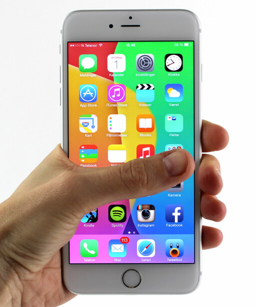 TOMMEL OPP: iPhone 6 Plus er den heftigste Apple-mobilen nå, men størrelsen er ikke for alle. Foto: KIRSTI ØSTVANG