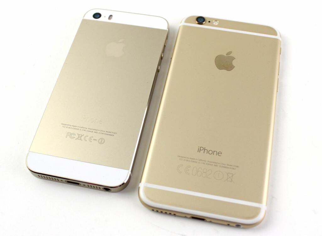 OMDISKUTERTE STRIPER: iPhone 6 har en ny antennedesign som har vakt oppsikt. Mest fordi de ikke er helt typisk Apple. Foto: KIRSTI ØSTVANG
