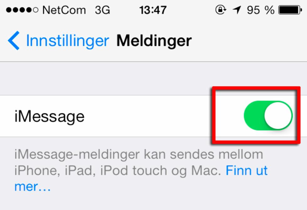 Skru av denne på alle iOS-enhetene du ikke skal bruke lenger. Foto: KIRSTI ØSTVANG
