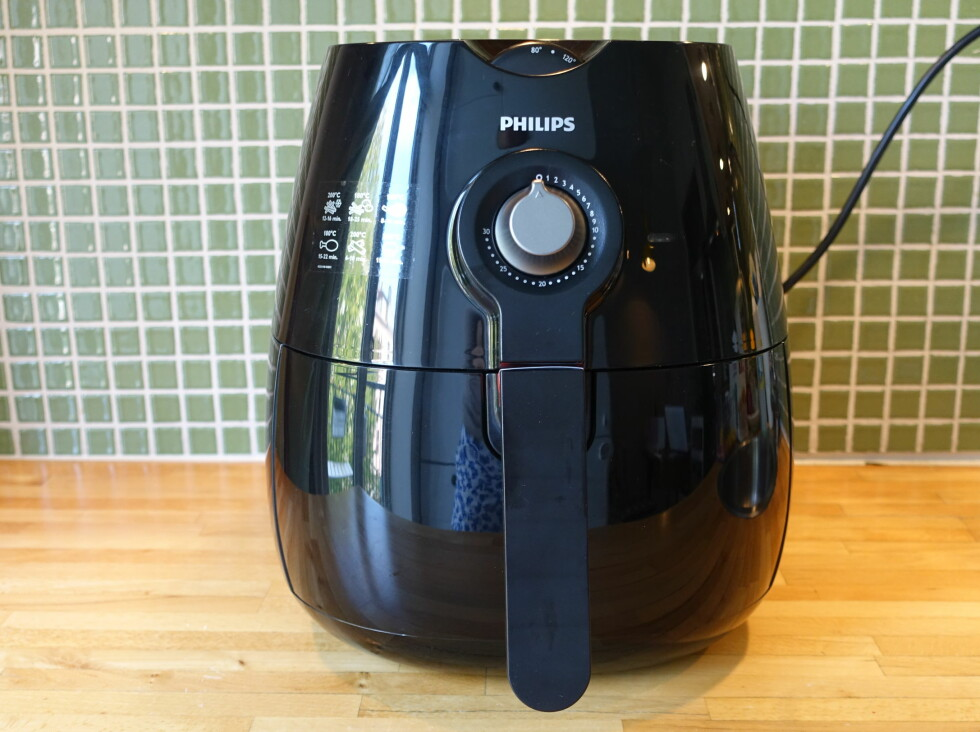 NETT: Maskinen er relativt liten, i skinnende plastikk, med detaljer i matt metall. Foto: ELISABETH DALSEG
