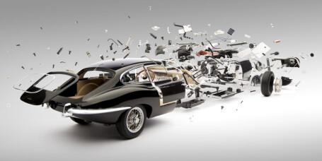 Skal skape illusjonen av en eksploderende bil