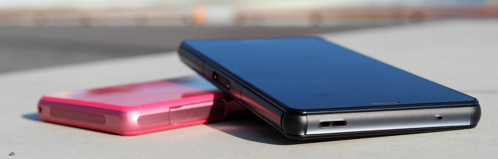 IKKE SÅ KNÆSJ: Z3 Compact kommer i finere farger, i stedet for knæsj-rosa eller -gul, tilbys en dusere grønn eller rød, i tillegg til svart og hvit.  Foto: KIRSTI ØSTVANG