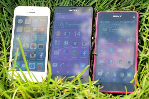 IPHONE-ALTERNATIVET: Liker du iPhone først og fremst på grunn av størrelsen, vil Z3 Compact være et ypperlig alternativ. Foto: OLE PETTER BAUGERØD STOKKE