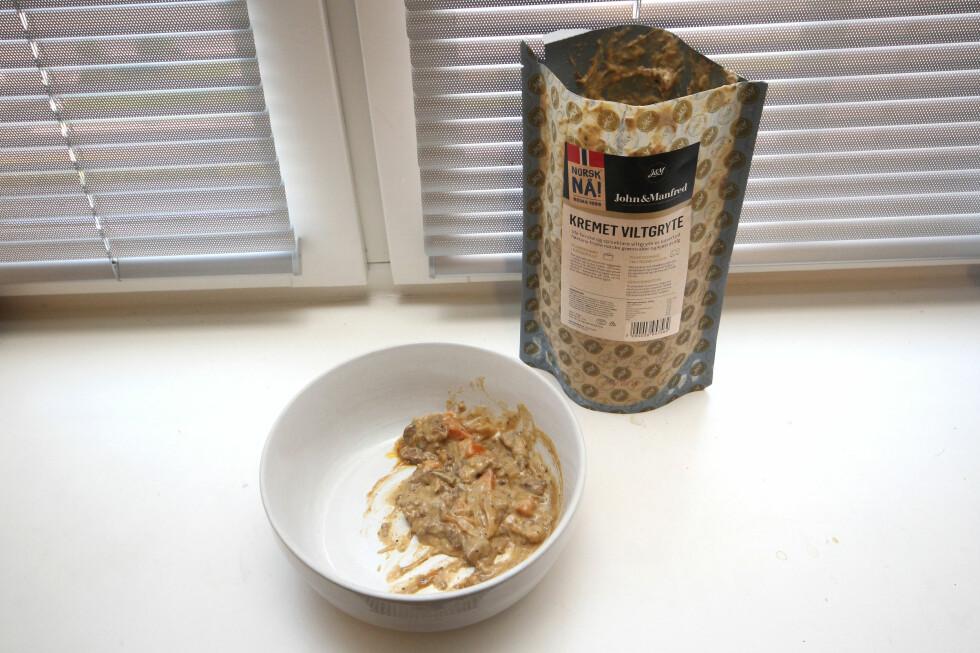 VILTGRYTE: Med poteter og tyttebær blir dette en god middag.   Foto: OLE PETTER BAUGERØD STOKKE