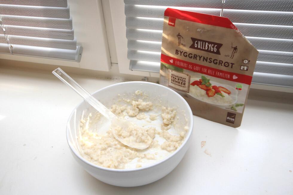GRØTMIDDAG? Kanskje sunnere enn risengrynsgrøt til middag, men langt fra like godt. Og det blir ikke bedre med syltetøy, heller. Foto: OLE PETTER BAUGERØD STOKKE